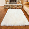 Fluffy Soft White Faux Sheepskin Area Rug