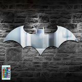 Batman Logo Mirror With Remote Control LED Back light