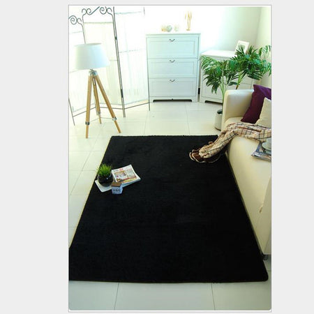 Black Shag Area Rug - Select Area Rugs