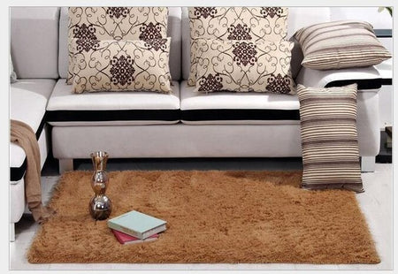 Solid Chocolate Brown Shag Rug | 1.31x1.96, 1.64x2.62 & 3.93x5.24