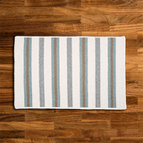 Turquoise Striped Braided Rug | Free Shipping | Made in USA