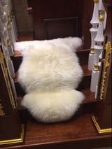White New Zealand Sheepskin Rug Single Pelt | 100% Real, Beautiful and Super-Soft