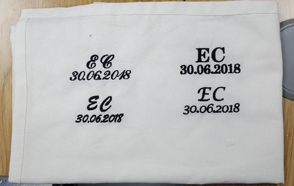 embroidered handkerchiefs wedding custom embroidered we had the pleasure of fulfilling bespoke order for clients wedding they wanted embroidered handkerchiefs with individuals initials and date personalised wedding handkerchiefs tee tree group