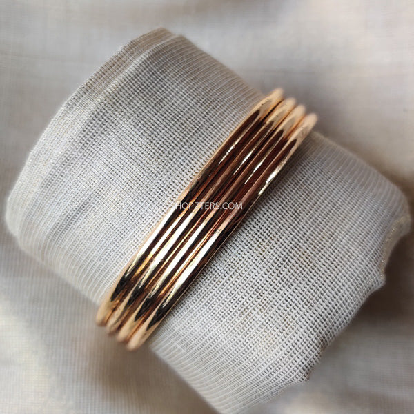 Plain Gold Covering Bangles -Set Of Four
