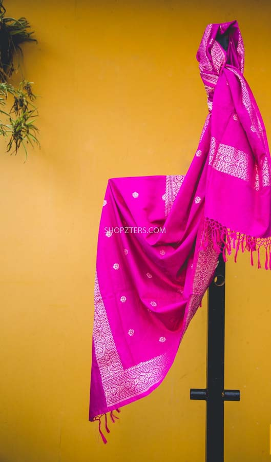 Pink Silk Cotton Stole
