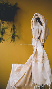 White Satin Silk Stole