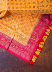 Yellow Munga Silk Dupatta