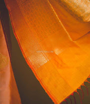 Orange Katan Silk Dupatta