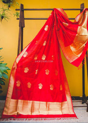 Red Katan Silk Dupatta