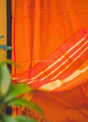 Orange Silk Cotton Dupatta