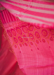 Pink Silk Cotton Dupatta