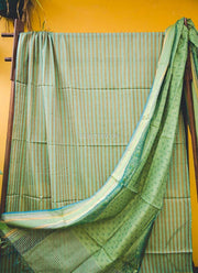 Green Silk Cotton Dupatta