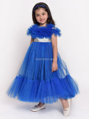 Blue Dress With Silver Belt