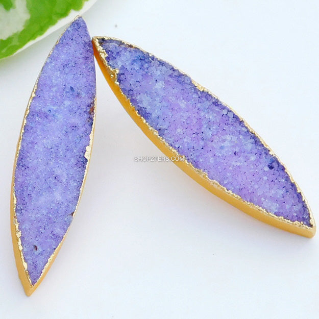 Purple Natural Stone Stud