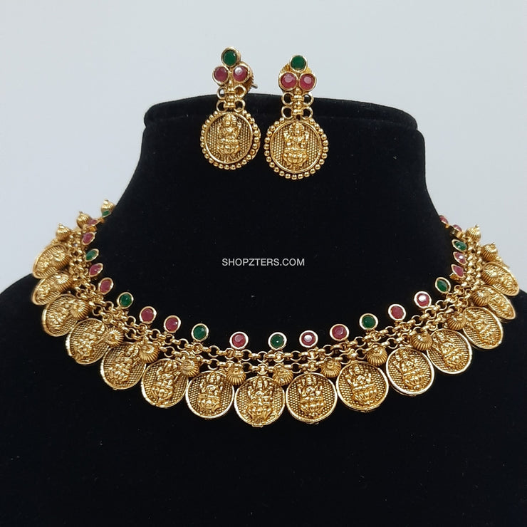 Lakshmi Coin Necklace