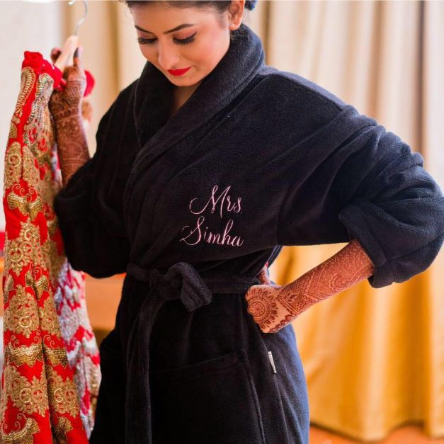 A personalized robe to pamper yourself.