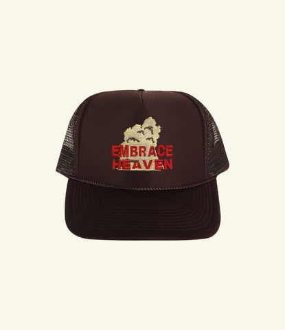 EMBRACE HEAVEN BROWN TRUCKER CAP