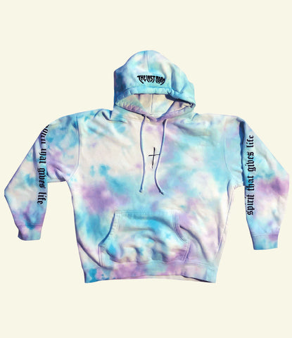 """SPIRIT THAT GIVES LIFE"" HOODIE (CLOUDY BLUE & PURPLE)"