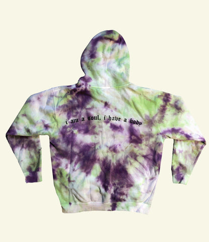 """SPIRIT THAT GIVES LIFE"" HOODIE (GREEN & PURPLE)"