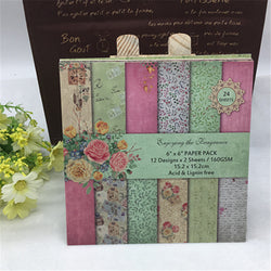 24 Sheets Scrapbooking Pads