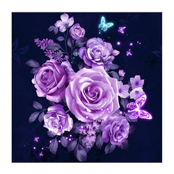 Purple Flowers - Dreamer Diamond Paint Kit