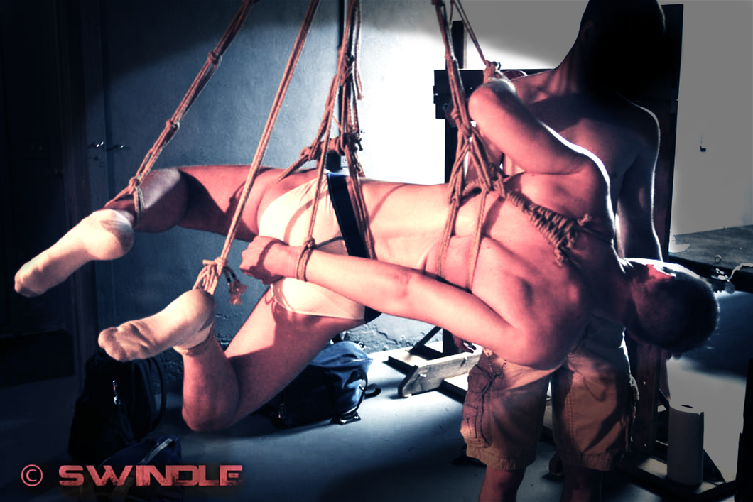 Gay Leather Rope Bondage