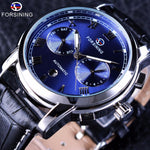 Forsining Blue Ocean Water Resistant Wrist Watch