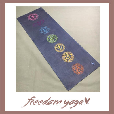Yoga mat for Yoga Lovers - Colorful round pattern