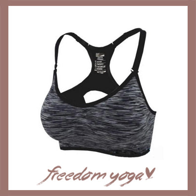Top Yoga Bra for Yoga Lovers - Black Stripe Pattern