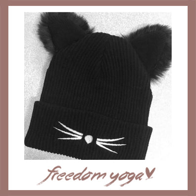 Winter and Fashion Yoga hat - Cat pattern