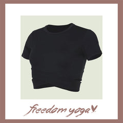 Fitness Yoga short sleeve t shirt for Yoga Lovers