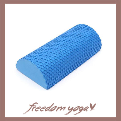 Blocks and Bricks Half Round for Yoga Lovers - Blue pattern