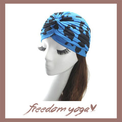 Fashion Yoga hat - Black rounds pattern - 6 colors available