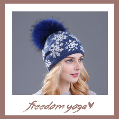 Fashion Yoga hat - Poms poms pattern - 4 colors available