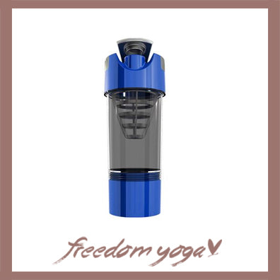 Yoga Water Bottle Shaker for Fitness and Yoga - Blue