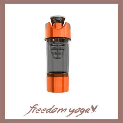 Yoga Water Bottle Shaker for Fitness and Yoga - Orange