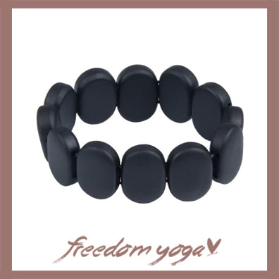 Bracelet in natural stones - Black Bian pattern
