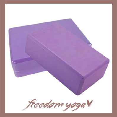 Yoga Blocks and Bricks for Yoga Lovers - Purple pattern