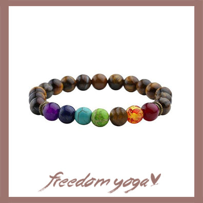Bracelet in stones of Lava - Healing of the 7 Chakras pattern