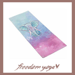 Yoga mat for Yoga Lovers - Elephant pattern