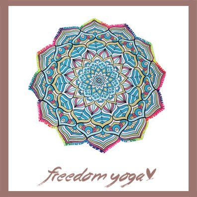 Round Yoga Lotus Towel - Indian Mandala Tapestry