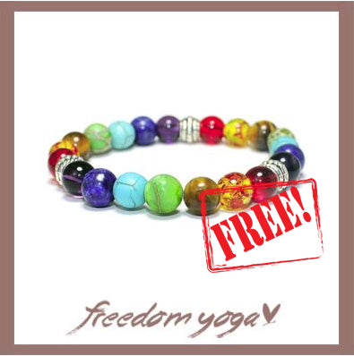 Bracelet in natural stones - 7 Chakras pattern - Free