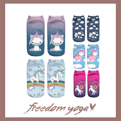 Yoga socks - Original and Cartoon pattern