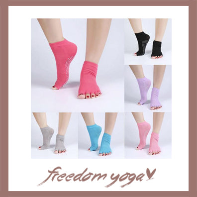 Yoga Toe Socks Anti-slip with toe separated - 5 colors