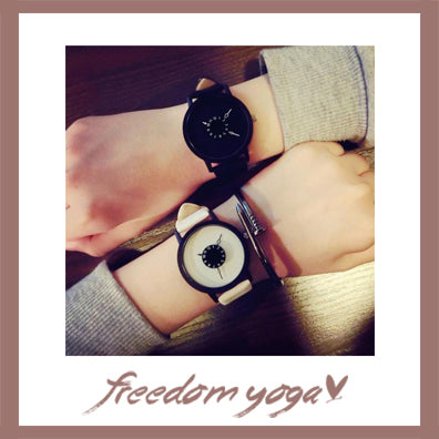 Fashion and Casual Watch for women - Black or White pattern