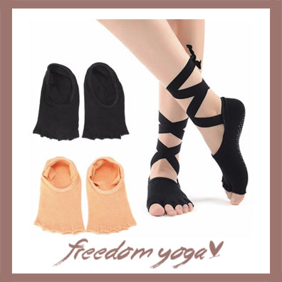 Fun and practical finger socks for yoga exercices - 2 colors