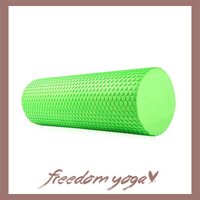 Yoga Blocks and Bricks Round for Yoga Lovers - Green pattern
