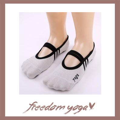 Pair of invisible socks with Yoga pattern - 4 colors