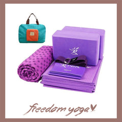 Yoga Starter kit - Yoga block, towel, mat, strap and belt