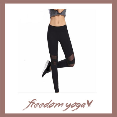 Legging Yoga pants - Mesh Splice pattern